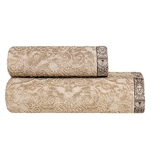 Togas Bath Towel Henry Modal,Cotton 600 Bath Beige,Brown