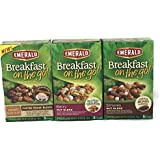 Emerald Breakfast On The Go Snack Bar Bundle- Smores, Berry Nut Blend And Caramel Macchiato (3 Boxes, 1 Of Each Flavor. 5 Bars Per Box)