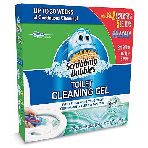 (Scrubbing Bubbles Toilet Gel, Rainshower (2 dispensers + 30 Gel)