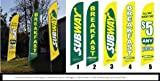 Cheap THREE Custom 15ft Subway Feather Banner Flag Kits PROMOTIONAL PACKAGE – INCLUDES 15FT 4pc POLE KITS w/ HARDWARE