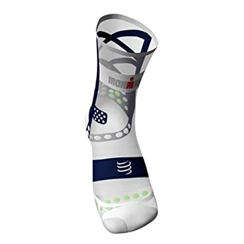 Compressport Calcetines ProRacing V3.0 UltraLight Run Hi Ironman 2017 Azul - T1