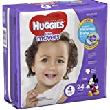 Huggies Little Movers Diapers, Size 4(22-37 lb), 24 each/ 2 PK