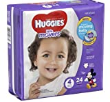 Health & Personal Care : Huggies Little Movers Diapers, Size 4(22-37 lb), 24 each/ 2 PK