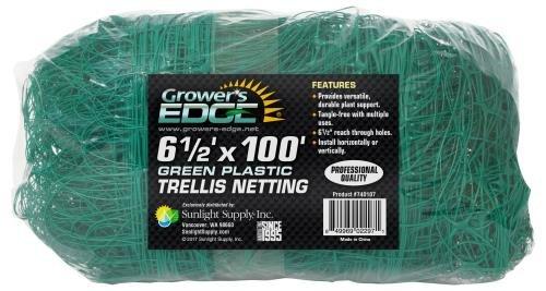 Growers Edge Grower's Edge Green Trellis Netting 6. 5 ft x 100 ft (8/Cs)