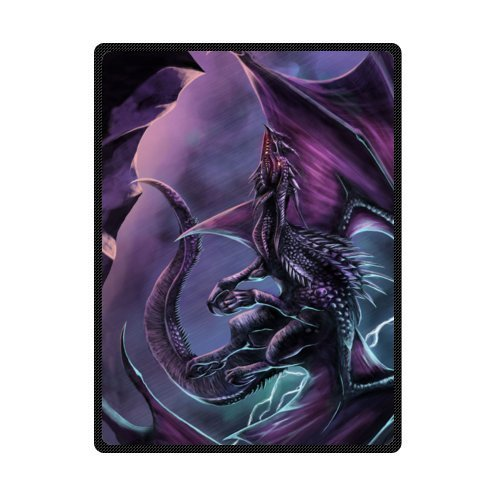 magic Dragon,Mysterious Dragon,Fire Breathing Dragon Super Soft Fleece Blankets and throws 58 X 80 inch (Large)