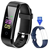 Fitness Trackers Waterproof - Fitness Watch with Heart Rate Blood Pressure Monitor, Activity Tracker Watch with Sleep Monitor, Calorie Step Counter Watch for Women Men Kids Compatible iPhone Android
