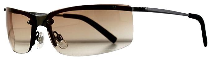 Elegante Metall Sonnenbrille mit braunen Gläsern I92N8lUNyq