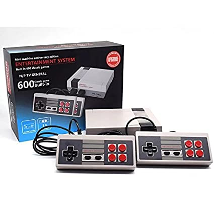 Ocamo Classic Family Game Consoles Professional System For NES Game Player Built-in 600 TV Video Game With Dual Controllers General standard US plug