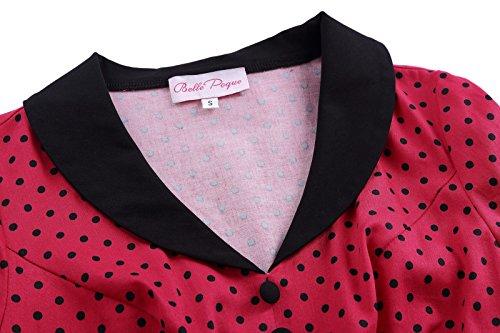 Belle Poque Femmes Vintage 50 Polka Motifs De Points Robes De Soirée Swing Occasionnels Bp258-1