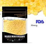 Waxkiss Wax Beans FDA Certified - Removal Body Hair Wax Beans for Home Waxing 300g per bag for Bikini Arms Legs Upper Lip Eyebrows Armpit Hair Removal Honey Flavor