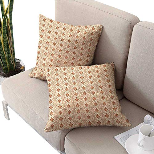 (warmfamily AntiqueDouble-Sided Printing PillowcaseBotanical Nature Pattern with Vintage Byzantine Floral Design Elementsoutdoor Pillow Covers 16
