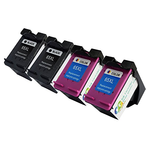 lic store Remanufactured for HP 65 65XL Ink Cartridge High Yield, 1 Black+1 Tri-Color, Use with HP Deskjet 2655, HP Deskjet 3755, HP Deskjet 3752 3758 3732 3730 3721 3720 Printer (4PK 2BK 2C) -  OGOUGUAN, 65-1