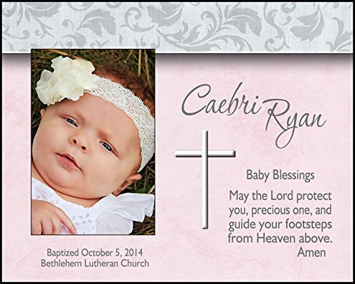 (Personalized baptism picture frame baptismal photo frame )