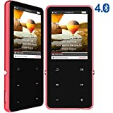 MP3 Players with Bluetooth 4.0, Portable HiFi Music Player for Running, 16GB Digital Audio Players with Speakers, 2.4'' HD OLED Screen, FM Radio, Aluminum Alloy Shell, Expandable to 128GB