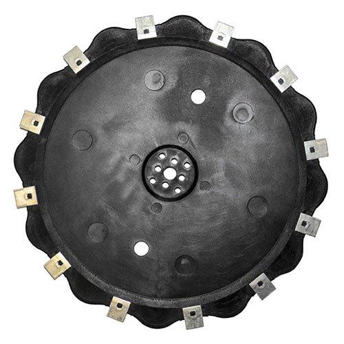 Hoja Robot 12 dientes Alpina. sustituye origen Ambrogio 075z15000b, sobre L30 y sustituye a origen Alpina 0610002 – 01 A, sobre AR1 500, diámetro 250 ...