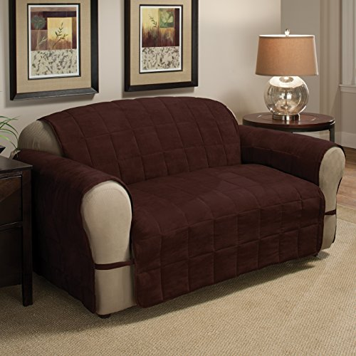 Faux Suede Box (Innovative Textile Solutions Ultimate Furniture Protector Loveseat, Chocolate)