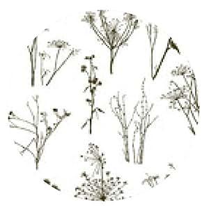 alfombrilla de ratón plantas de hierbas silvestres - ronda - 20cm