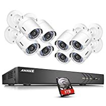ANNKE 16CH True 3.0MP HD TVI DVR Camera Surveillance System with 8x 1080P Weatherproof 3.6mm Lens 66FT 20m Night, Support Smartphone Scan QR Code Quick Remote AccessOne 2TB HDD