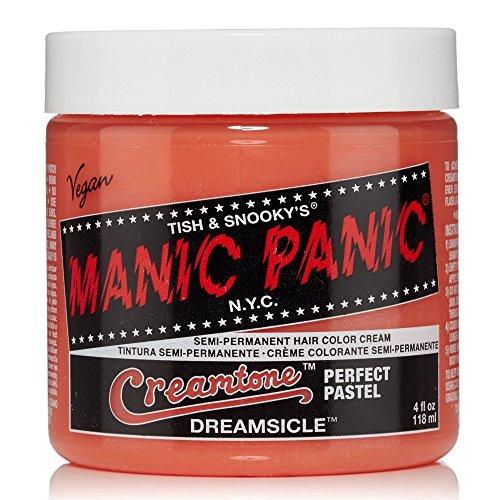 Manic Panic Semi-Permanent Hair Color Cream, Dreamsicle, 4 (Cream Hair Color Dye)