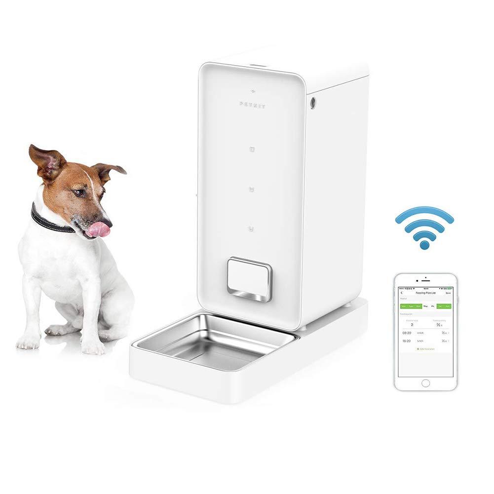 Alimentador AutomáTico De Mascotas para Perros Y Gatos compatible con Alexa