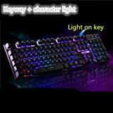 Backlit Gaming Wired Keyboard,Mechanical Feel/USB Interface for Home use-B