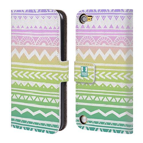 Head Case Designs Azteco Disegnato A Mano Trend Mix Cover a portafoglio in pelle per iPod Touch 5th Gen / 6th Gen