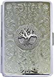 100mm 'Celtic Tree of Life' Cigarette Case / Stash Holder - Florentine Mirror Finish (Gift Box Edition)
