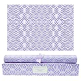 Scentorini Lavender Scented Drawer Liners, Scent Paper Liners for Cabinet Drawers, Dresser Shelf, Linen Closet, Perfect for Kitchen, Bathroom, Vanity (6 Sheets)