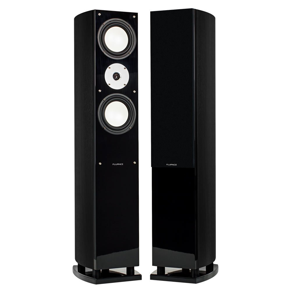 Fluance XL7F High Performance Three-way Floorstanding Loudspeakers (Black Ash) by Fluance
