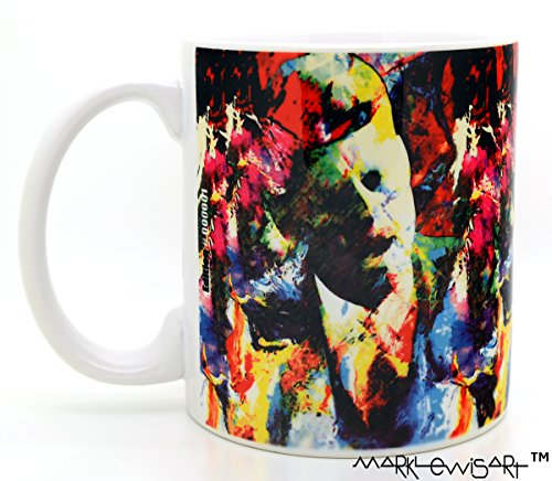 Mark Lewis Art JFK mugs 11 oz ceramic cup. Your elegant mug is hand signed and numbered. John F. Kennedy cup collectible - John Kennedy Baseball