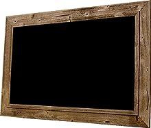 Chalkboard by billyBoards - Rough sawn frame - Distressed Brown Barnwood 30x48