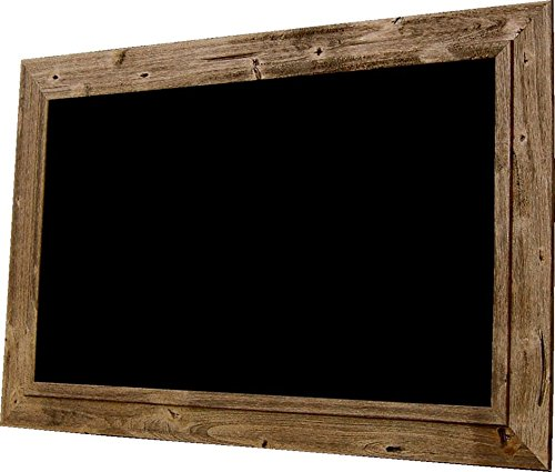 Chalkboard by billyBoards - Rough sawn frame - Distressed Brown Barnwood 24x36 by billyBoards