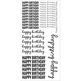 Kaisercraft ST922 Clear Stickers 5.75''X12''-Happy Birthday