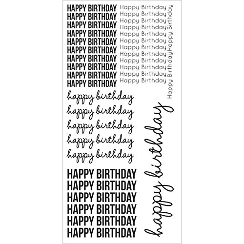 Kaisercraft ST922 Clear Stickers 5.75''X12''-Happy Birthday by Kaisercraft