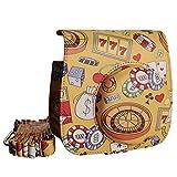 [Fujifilm Instax Mini 8/8+ Case] - CAIUL Casino Pattern PU Leather Case Bag for Instax Mini 8 Camera - Film Count Show Design