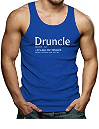 Tstars Funny Gift for Uncle - Druncle Drunk Uncle Singlet