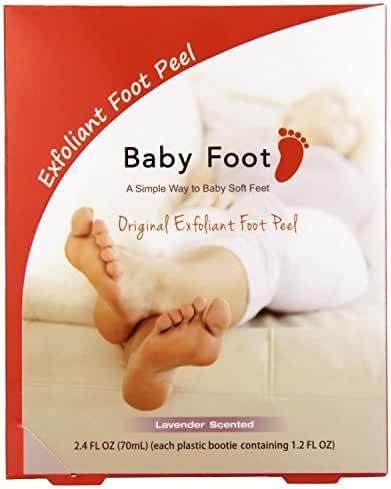 Baby Foot Original Exfoliating Foot Peel 2 Booties, Lavender, 2.4 Fluid Ounce