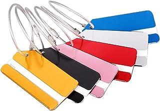 Yifanzi Viaggio Bagagli Tag Etichetta in Alluminio Indistruttibile per Bagagli, Borsa Trolley (Pack di 6) (6 Colori Diversi)