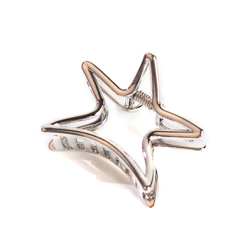 Weimay Hairpin Five-Pointed Star Shape Ponytail Clip Hollow Alloy Women Hairpin Hair Accessories