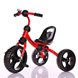 LittleBambino Little Bambino 3 Wheeler Kids 2-5 Years Old Pedal Trike Bike Tricycle Ride on Childs Toy with Bell - Red