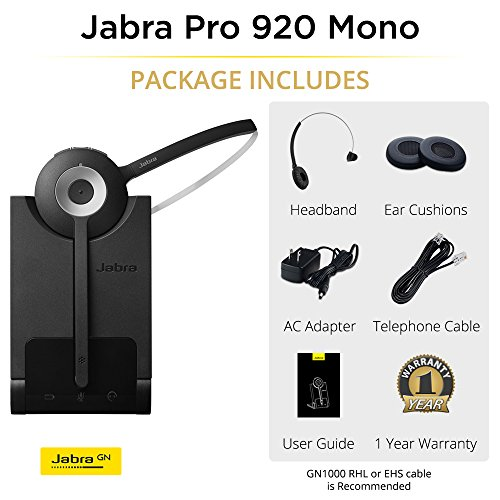 Jabra PRO 920 Mono Entry Level Wireless Headset with 3-in-1 Wearing Styles by Jabra (Image #2)
