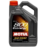Motul 007229 8100 Eco-nergy 5W-30 100 Percent Synthetic Fuel Economy Gasoline and Diesel Lubricant - 5 Liter