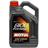 Motul MTL102898 102898 8100 Eco-nergy 5W-30 100% sintético, 5 litros
