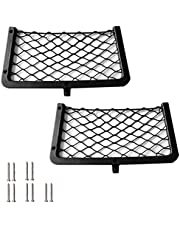2 Pack Framed Stretchable Mesh Net, Universal Mesh Cargo Net, Storage Pouch Bag for Auto, RV, Home, Marine