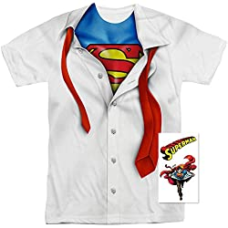 Superman Shirt and Tie DC Comics T Shirt (Medium)