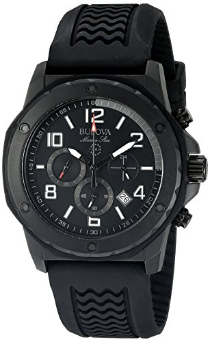 Bulova Men's 98B223 Marine Star Analog Display Quartz Black (Marine Star Mens Quartz Watch)