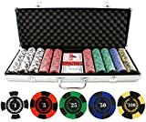 Versa Games 9.5g 500pc Roman Times True Clay Poker Chip Set