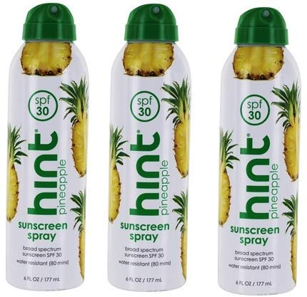 Sunscreen Spray Broad Spectrum Pineapple 30 SPF by Hind - 6 fl. oz - 3 pk
