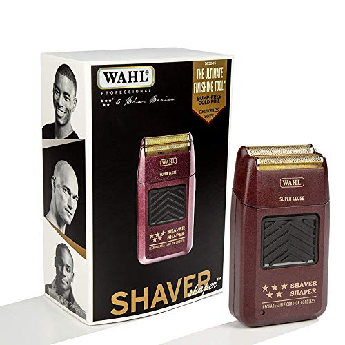 Wahl Professional 5-Star Series Rechargeable Shaver/Shaper #8061-100 - Up to 60 Minutes of Run Time - Bump-Free, Ultra-Close...