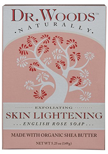 Dr. Woods Skin Lightening English Rose Bar Soap with Organic Shea Butter, 5.25 Ounce (Best Skin Whitening Products In India)